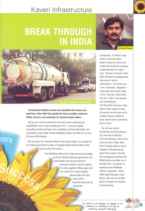 Kaveri Article - Water and Waste Water International