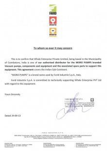 Moro Distribution Letter